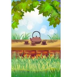 Tea ceremony Menu vector image vector image