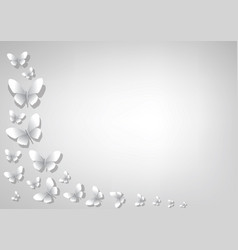 abstract light gray background with white paper vector image