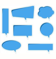bubble speech vector image vector image