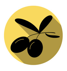 olives sign flat black icon vector image