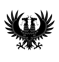 Royal heraldic double headed eagle black symbol vector image vector image