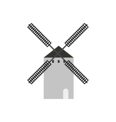 Spanish windmill icon flat style vector image