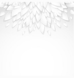 background with paper plastic white leaves vector image