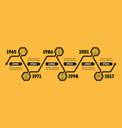 horizontal infographic timeline web template for vector image vector image
