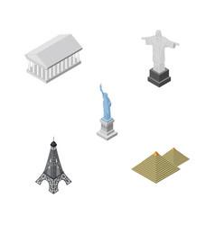 isometric cities set of new york paris athens vector image