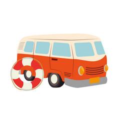van travel summer icon vector image
