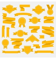 Yellow ribbons set II vector image vector image