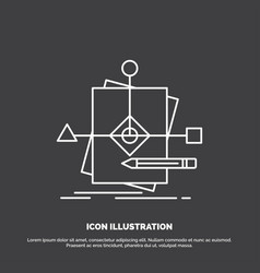 algorithm business foretelling pattern plan icon vector image