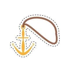 Anchor rope maritime nautical cut line vector