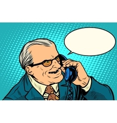 Angry boss talking on the phone vector