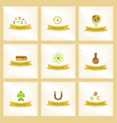 assembly flat shading style icons rocket science vector image