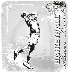 basketball slam dunk vector image