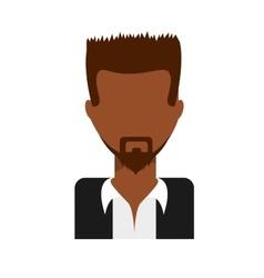 Beard guy icon vector