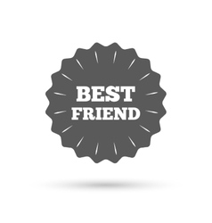 Best friend sign icon Award symbol vector image