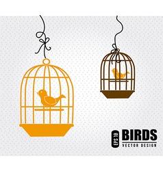 Bird design over white background vector