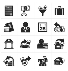 Black Taxes business and finance icons vector image