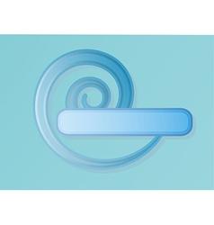 Blue spiral label vector
