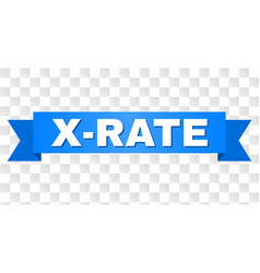 Blue stripe with x-rate title vector
