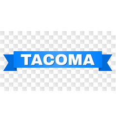 Blue tape with tacoma title vector