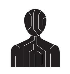 body digital structure black concept icon vector image