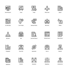 Business and finance line icon 20 vector