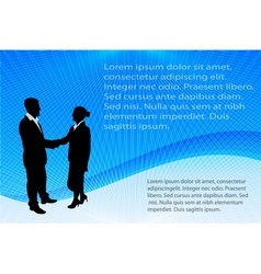 business people on abstract background vector image