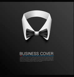 business suit cover art banner vector image