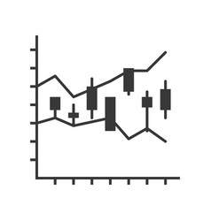 Candlestick chart data report or stock market vector