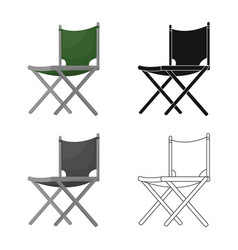 Chair and folding logo vector