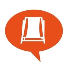 Chair beach summer isolated icon vector