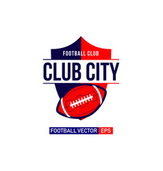 city football logo template design vector image