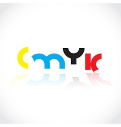 CMYK concept vector image