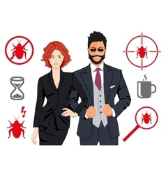 Code quality assurance team design concepts vector image