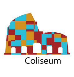 Colosseum icon vector