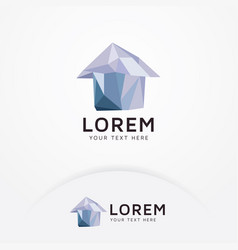 crystal house logo vector image