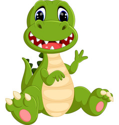 cute dinosaurs cartoon vector image