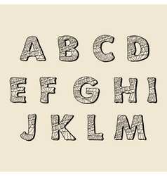 Cute hand drawn font letters vector image