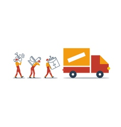 Delivery company truck transportation vector