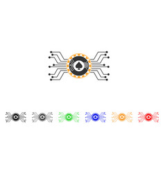 digital casino circuit icon vector image