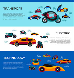 digital future car simple icons vector image