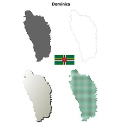 Dominica outline map set vector image