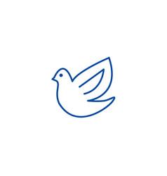 dovebird line icon concept dovebird flat vector image