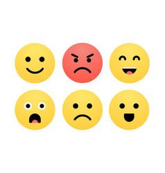 emoji smile face cartoon icon emoticon vector image