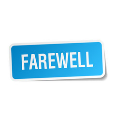 Farewell square sticker on white vector