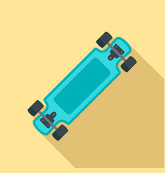 fashion new skateboard icon flat style vector image