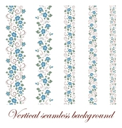 Floral seamless border vector image