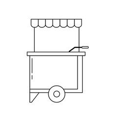 food trucks design vector image
