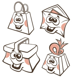 Funny cartoon packing vector