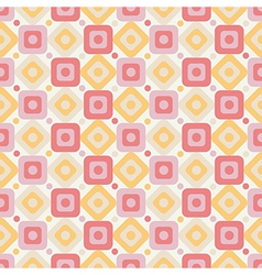 Geometric abstract seamless pattern on white vector image