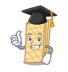 Graduation waffle character cartoon style vector